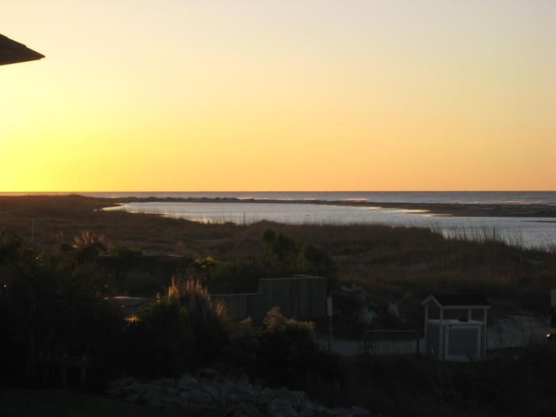Sunrise from the balcony - Oceanfront- Fall is a great time to be on Fripp!! - Fripp Island - rentals