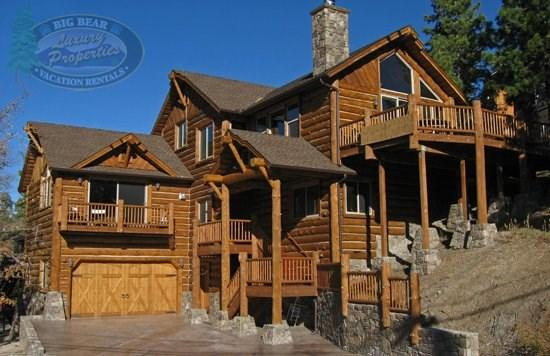 Geronimo Lodge - front of the cabin - Geronimo Lodge - 3 Bedroom Vacation Rental in Big Bear Lake - Big Bear Lake - rentals