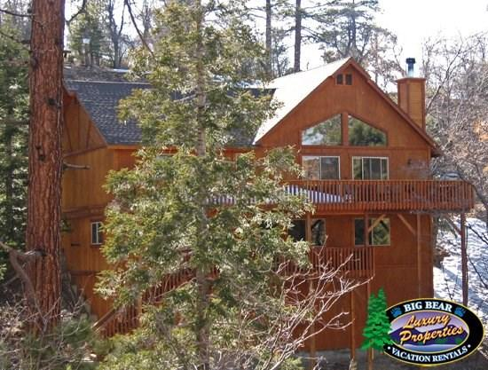 Olde Stag Lodge - Back of the cabin - Olde Stag Lodge - 4 Bedroom Vacation Rental in Big Bear Lake - Big Bear Lake - rentals