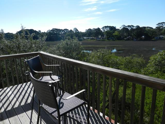 Top Deck off of Master - 3br/2.5ba - Beautiful Marsh Views - Tybee Island - Tybee Island - rentals