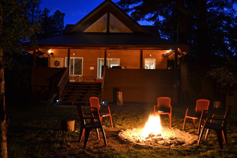 View at Night - Tulameen Vacation Cabin - Tulameen - rentals