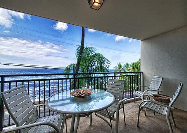 1 bedroom Ocean front condo, right down town w/ AC, great Ocean views - Image 1 - Kailua-Kona - rentals