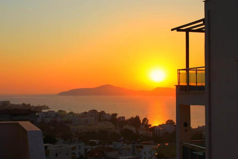 Sunset view from Flipflops - Penthouse on the Aegean, Gulluk, Turkey - Gulluk - rentals