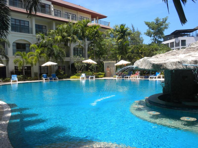 Main Pool - Luxury 2-bedroom Apt, sleeps 5 + infant, pool view - Bang Tao Beach - rentals