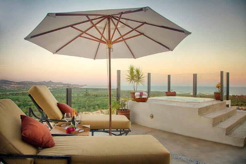 Terrace from Penthouse - Lavish 3BD/3BTH Two Level Penthouse W/Phenomenal V - San Jose Del Cabo - rentals