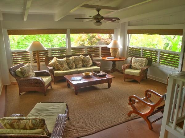 Living Room area - SUMMER SALE ~ Spectacular Ocean view Home in Poipu, private spa, walk to beach - Poipu - rentals