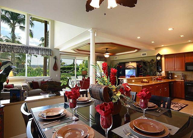 Dining Area - 5 Star Rating! Deluxe Poolside Townhome! - Waikoloa - rentals