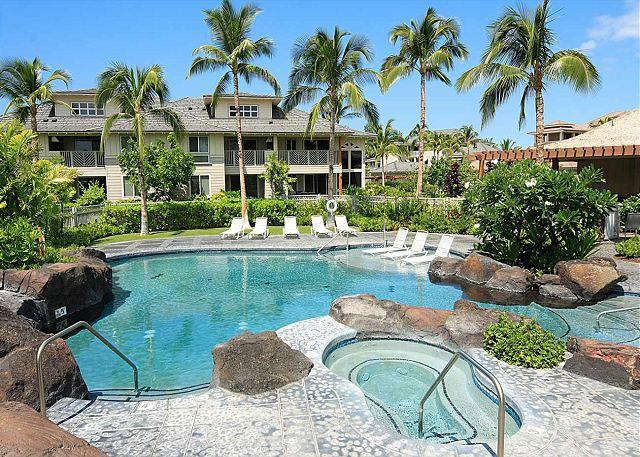 Pool & Hot Tub - TOP FLOOR VILLA/OCEAN VIEW & BBQ! LAVA FLOW SPECIAL AUG-OCT 7TH NIGHT COMP - Mauna Lani - rentals