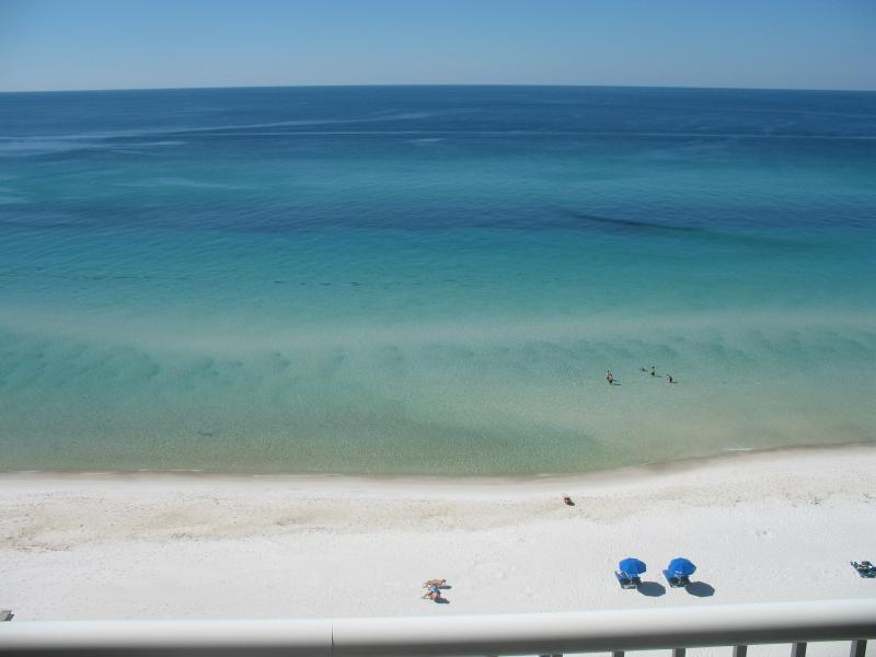 Beach view from our balcony - Quaint 2 Bedroom Beachside Cottage with a Great View - Panama City Beach - rentals