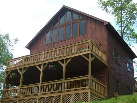 Front view of The Raven overlooking lake and mtn range. - The Raven Lake Cabin call for free night - Butler - rentals