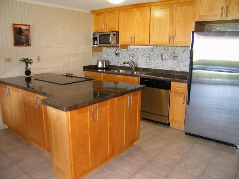 Remodeled with new SS appliances & fully stocked kitchen - BEACHFRONT WALKOUT - $149 SPECIAL - Sandy Beach - Hauula - rentals