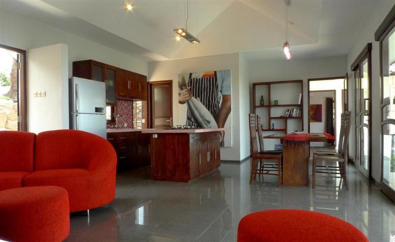 Villa Tiga Wasa Main Living Space - Modern North Bali Hillside Villa with Pool & Views - Lovina - rentals