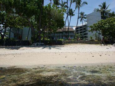 our private beach - Romantic Oceanfront Studio Condo In Downtown Kona - Kailua-Kona - rentals