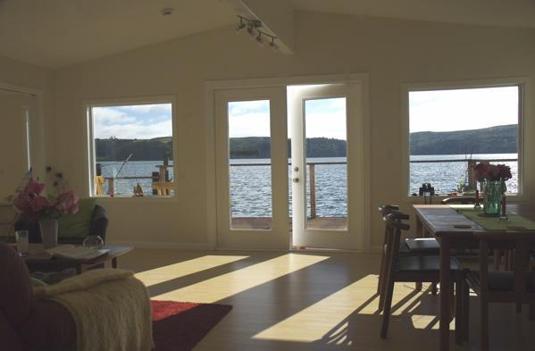 Water view from dining-living area - WATERFRONT 3BR 2 Bath Home TRANQUILITY ON THE BAY - Marshall - rentals