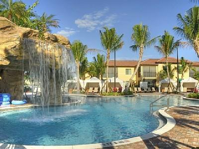 Main Pool with Waterfall and Cabanas - Newest Naples' Downtown Enclave -Naples Bay Resort - Naples - rentals