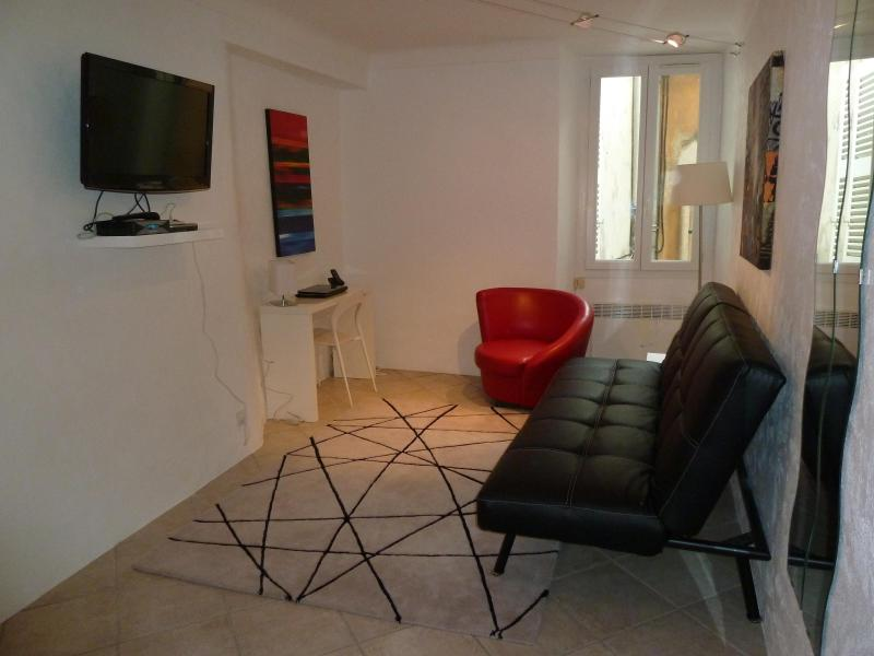 Living Room - Wonderful 1 Bedroom Apartment in the Heart of the Suquet, Cannes - Cannes - rentals