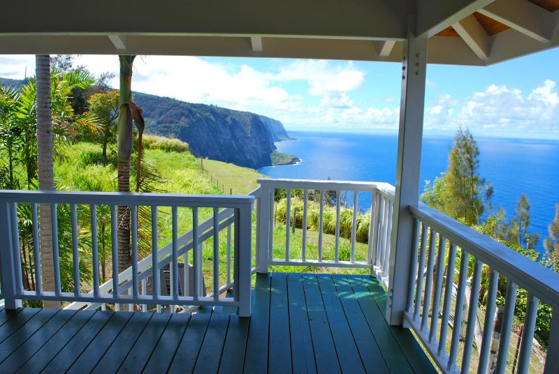 Lanai of Cliffhouse with mountain and ocean views. Ocean front. - Breathtaking, Spectacular, Ocean Front..Cliffhouse - Kukuihaele - rentals