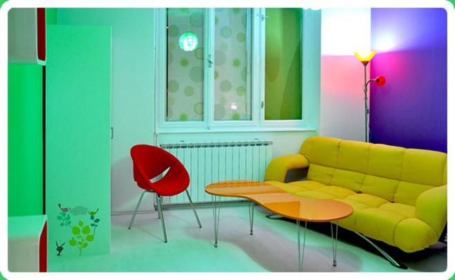 'Living' part of the only room - Lollipop Apartment - Zagreb central area - Zagreb - rentals