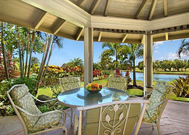 Outside lanai lakeview - Hale Plumeria - Elegant 4 Bedroom, 4 Bath Kiahuna Golf Course Vacation Home - Poipu - rentals