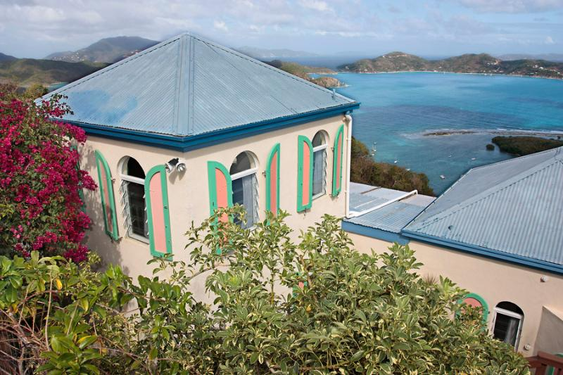 The villa Palladio's View sits elegantly on a hillside, offering spectacular East End & BVI views.  - Palladio's View - Coral Bay - rentals