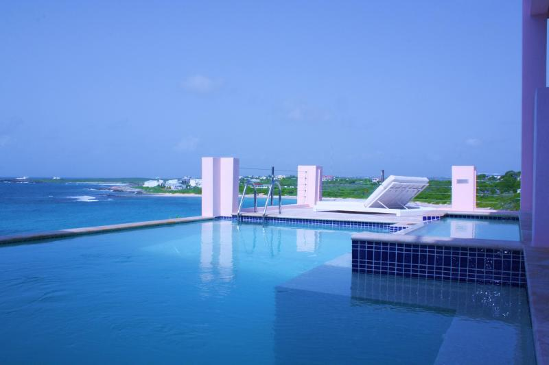 Lounge by the Main Level Pool overlooking Caribbean Sea - VACATION IN LUXURY VILLA IN ANGUILLA !! - Anguilla - rentals