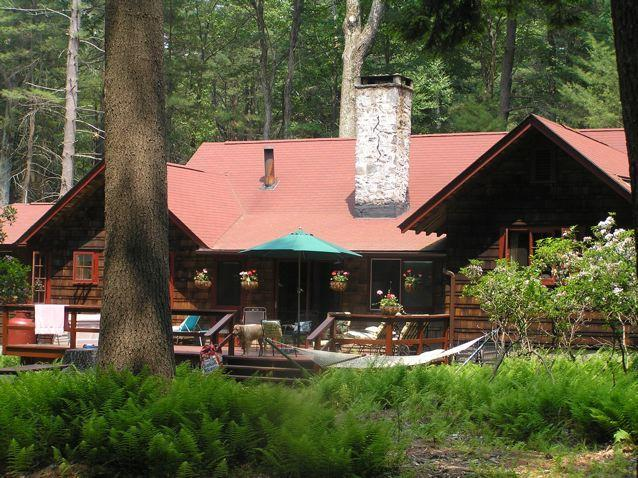 House surrounded by ferns and mountain laurel - Woodsy Catskill Summer House in Merriewold - Forestburgh - rentals