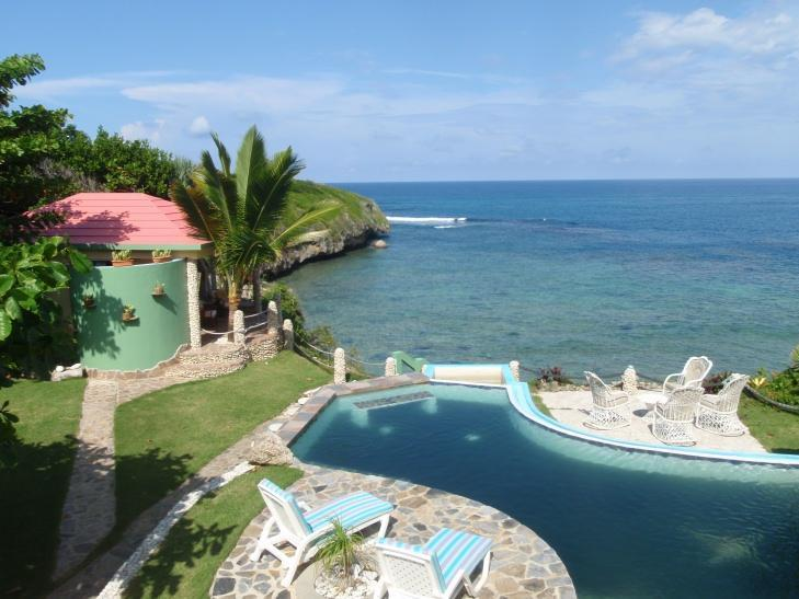 View from Master Bdrm Balcony - Affordable Oceanfront Villa with Pool - Cabrera - rentals