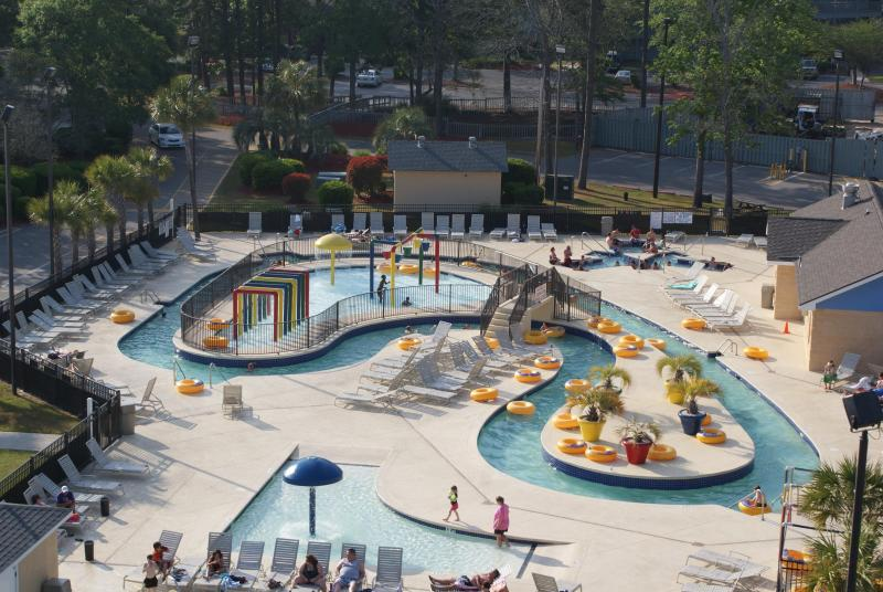 Lazy river waterpark (on site; free with rental) - Oceanview 2 Bedroom Condo with Balcony Bar at Myrtle Beach Resort - Myrtle Beach - rentals