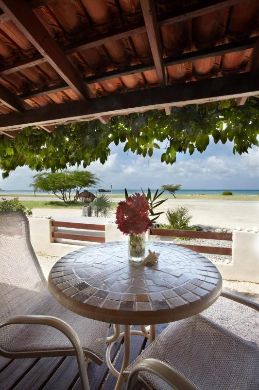 Ocean view from patio - Aruba Sunset Beach Studio - Malmok Beach - rentals