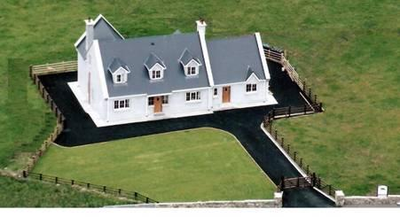 Aerial View of Beach House, enclosed garden, tarmacadam drive around. - On the Wild Atlantic Way - Luxury House at Beautif - Sligo - rentals