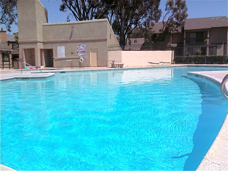 Community pool. Showers and bathrooms. - Disneyland Vacation Home:Across the street! Walk - Anaheim - rentals