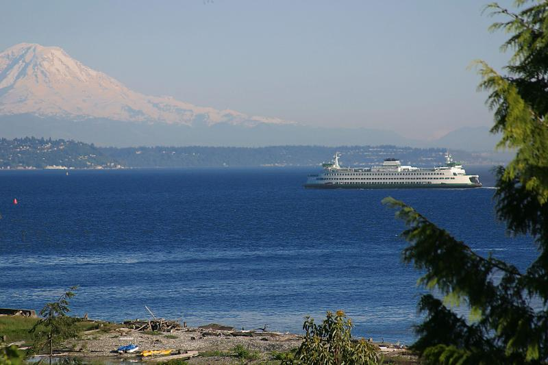 Mount Rainier view from your suite - 1 Bdrm Private Beach Suite, Views, WINTER SPECIALS - Bainbridge Island - rentals