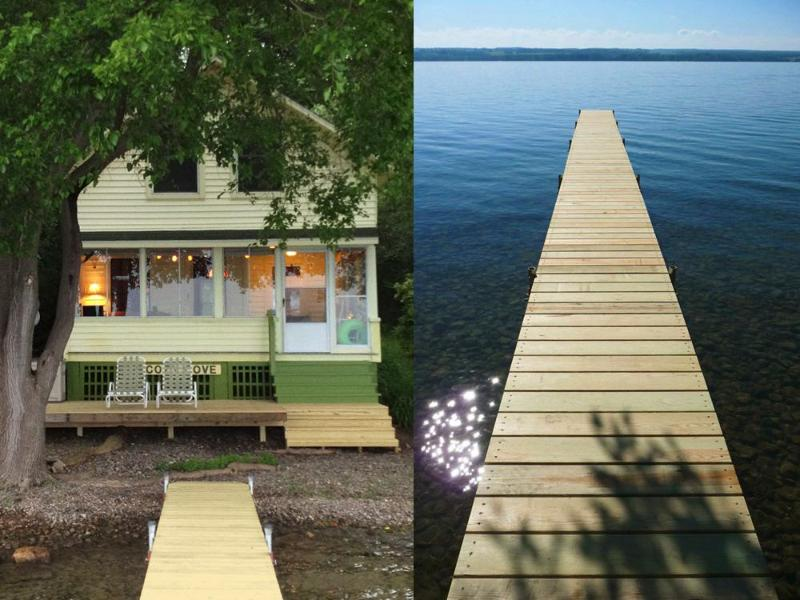 Cozy Cove Cottage...feel the summer breeze from our newly built deck! - Cozy Cove Cottage Lakeside on Cayuga Lake NY - Cayuga Lake - rentals