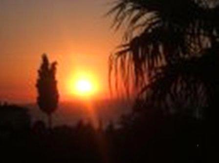 Sunset from Main Balcony - Amazing Sea Views Beautiful Villa 5B Walnut Grove Sogucak Kusadasi Turkey - Kusadasi - rentals