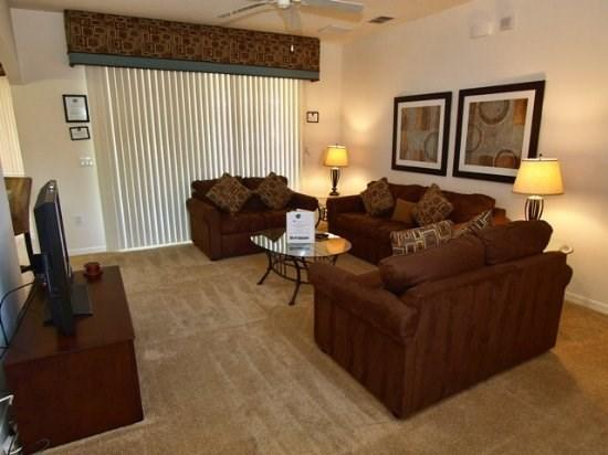 Living area with Flat Screen TV - TLCP5P225MC Amazing 5BR Pool Home Close to Disney - Orlando - rentals