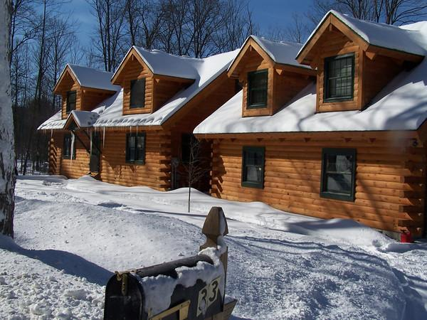 WINTER, UPSTAIRS APARTMENT TO THE RIGHT - Woodstock Vermont Village Log Home Apartment - Woodstock - rentals