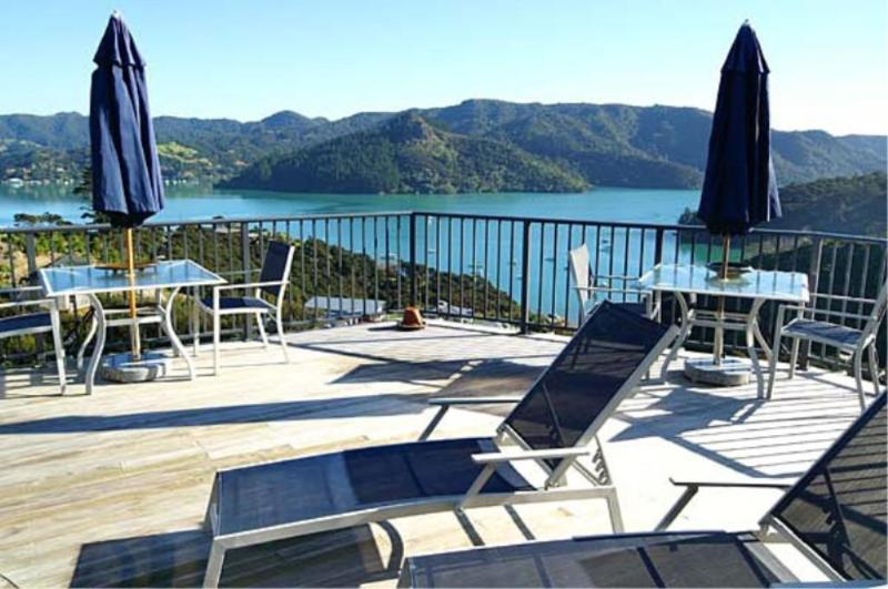 Harbour View Suite Deck View - Waimanu Lodge Whangaroa Harbour Northland NZ - Whangaroa - rentals