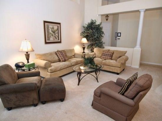 Living Area - TH3P109BD 3BR Holiday Villa With Private Pool & Spa - Davenport - rentals