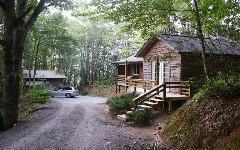 the view at the end of the road - THE CABIN IN THE WOODS - Robbinsville - rentals