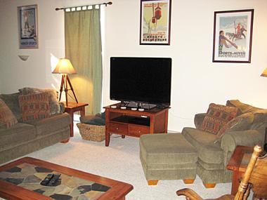 Living Room - Mammoth Point - MP101 - Mammoth Lakes - rentals