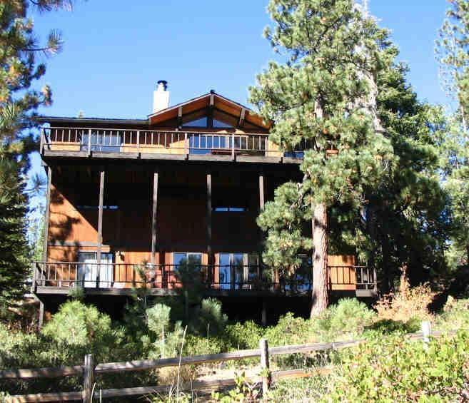 Home from Lake side of house - Tahoe's Best - Lake View, 8 BRs - DSL, HDTV, Spa - Tahoe City - rentals