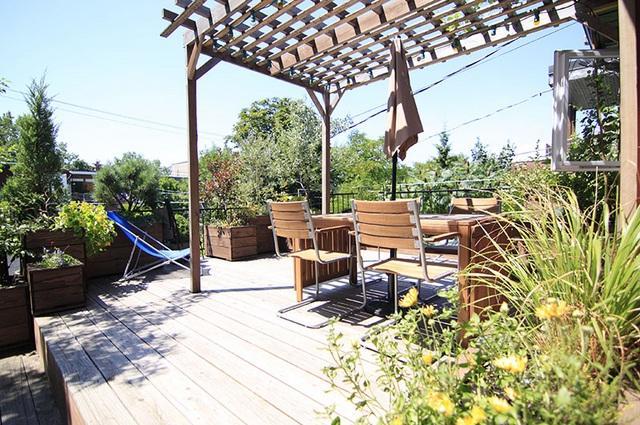 Terrace - Chez Patrac, welcome to Montreal, Metro Beaubien - Montreal - rentals