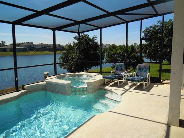 Pool and Spa - Time to Relax - BLUE HORIZON 5-Bed 5-bath on Sunset Lakes - Kissimmee - rentals