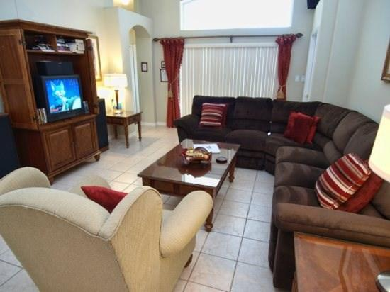 Living Area with TV set - OT4P16150EHS 4 BR Pool Villa with Conservation View - Clermont - rentals