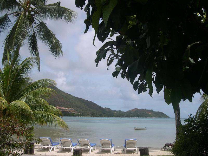 beach-front with beach beds - Villa with Sea View, free wifi and  Swimming pool - Praslin Island - rentals