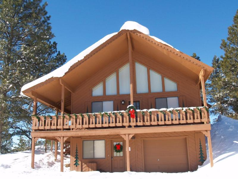 Mountain Majesty Chalet in Winter - Mtn Chalet sleeps 10-14, hot tub, panoramic views - Pagosa Springs - rentals