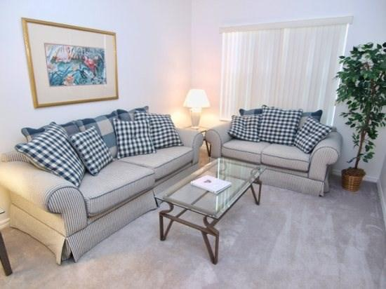 Living Area - CL4P5344CVL 4 BR Pool Home Luxuriously Furnished - Kissimmee - rentals