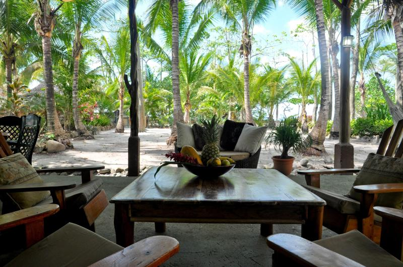 BEACHFRONT PALM VILLA with private pool at Santa Teresa Beach - Image 1 - Santa Teresa - rentals