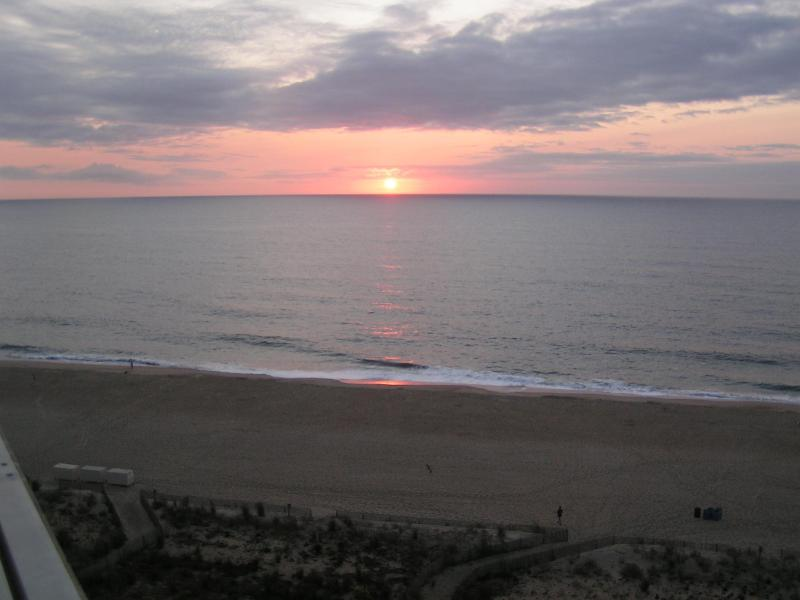 Sunrise from the balcony or Master bedroom - Beautiful Oceanfront Condo - Ocean City - rentals