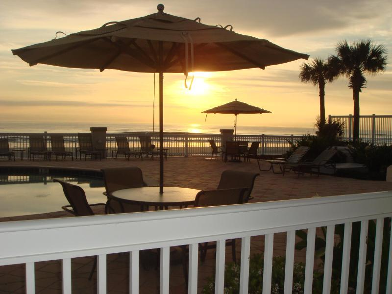 View from any of our adjacent ground level ocean front condos. - Oceanfront Suite, Ground Level and an AWESOME View - Daytona Beach - rentals